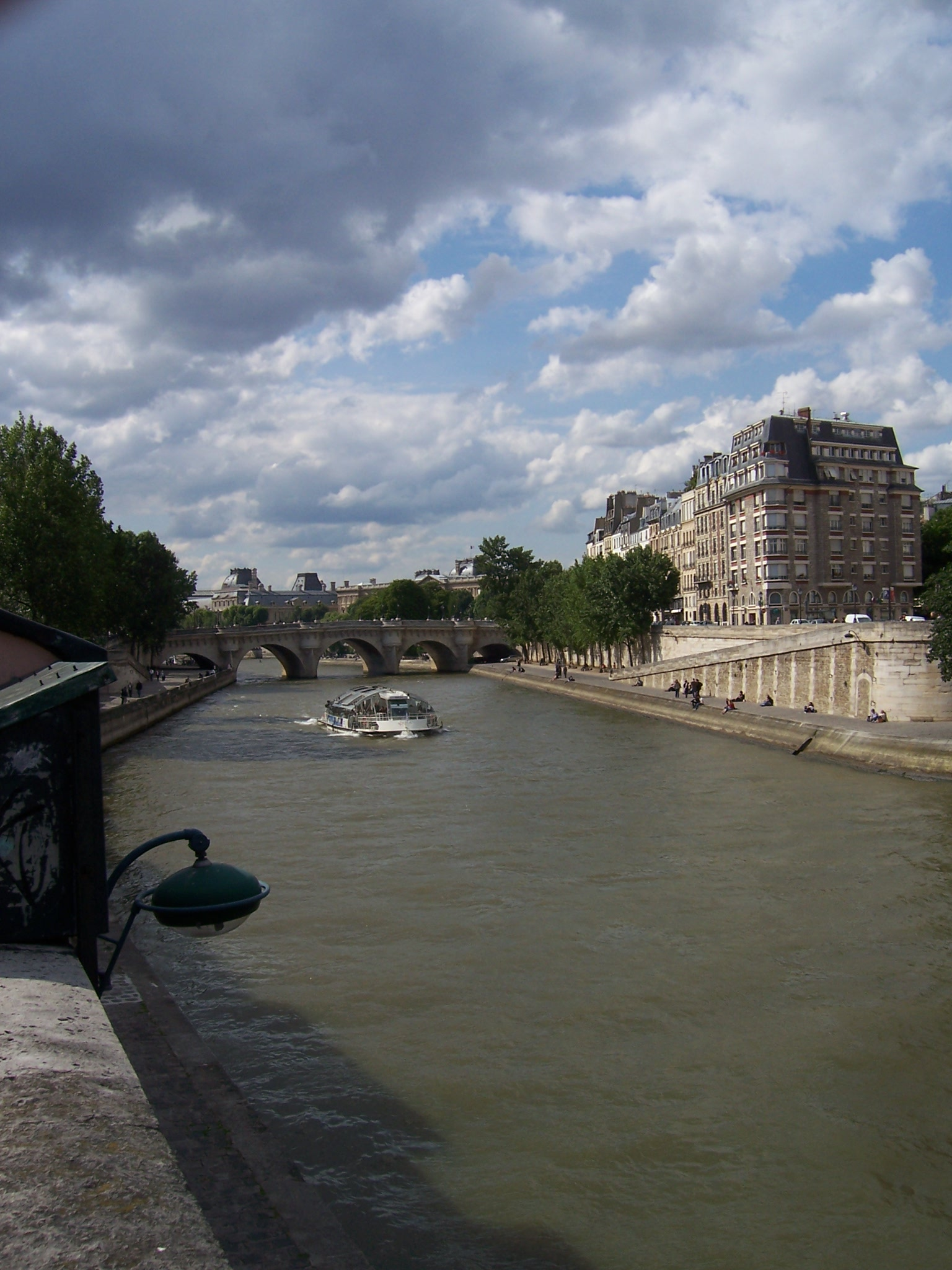 Photo de la Seine et l'île de la Cité à Paris