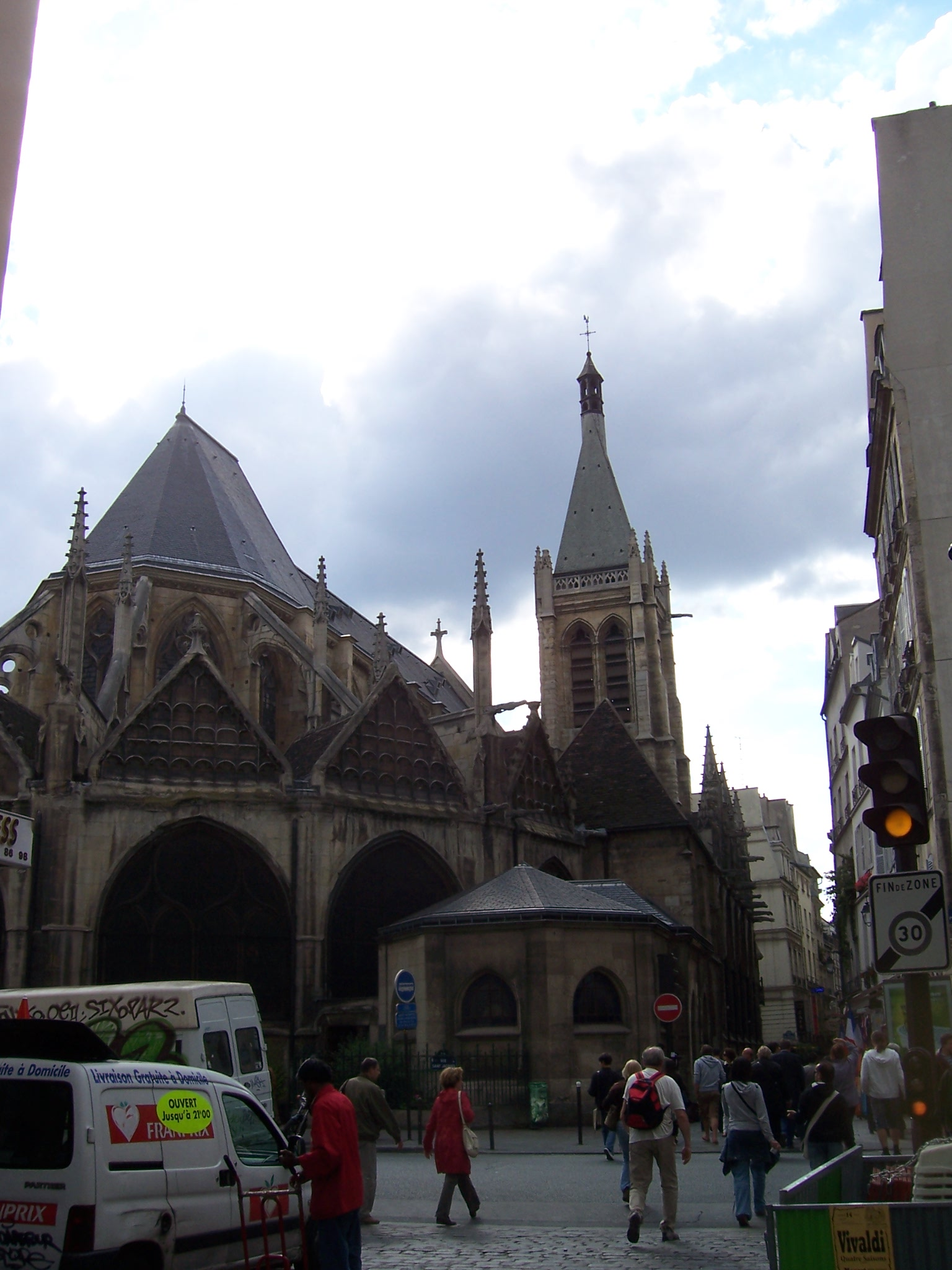 Photo de l'église Saint Séverin à Paris