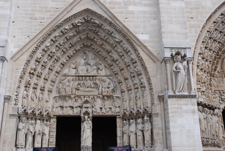 Photo du portail de la Vierge - Façade de la cathédrale Notre-Dame de Paris