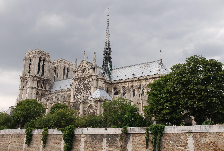 Photo de Notre-Dame à Paris (vue latérale)